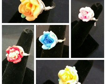 Custom Wire Wrapped Rose Ring