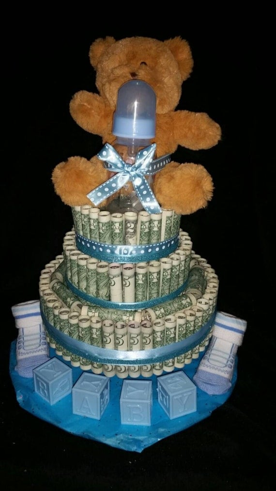 money cake ideas items similar to real united states money cake for a baby 5989
