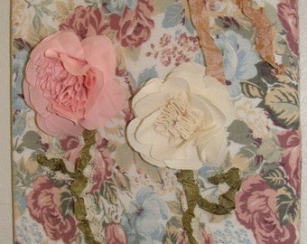 Shabby Chic Cabbage Roses Picture