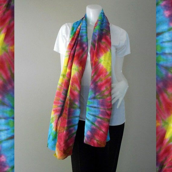 Rainbow Tie Dye Cotton Wrap Shawl ,Scarf , Accessories (25)