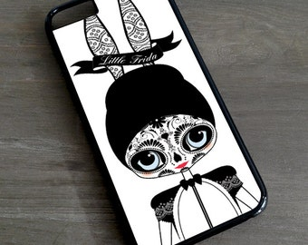 Little Frida Kahlo Bunny iPhone 7 6 5 4 Cover \ illustrated iPhone 6s Plus Case day of the dead tattoo Samsung Galaxy S4 S5 S6 S7 Edge