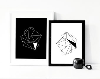 Print-set of 2 'diamonds'... A3 poster