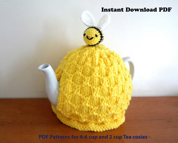 Beehive tea cosy knitting PATTERN ONLY. For 4-6 cup 2 pt 40