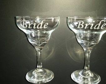 Personalized Margarita Glass Set