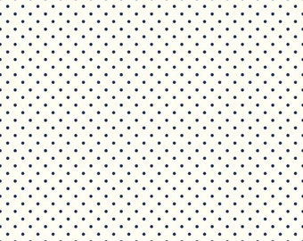 1 Yard- BLACK La Creme Swiss Dot by Riley Blake Designs- C600-110