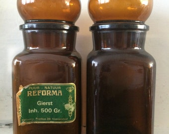 Two apothecary jars