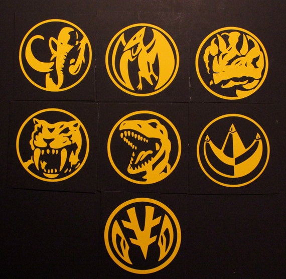 mighty morphin power rangers coin decal by nerdalert54 on etsy. Black Bedroom Furniture Sets. Home Design Ideas