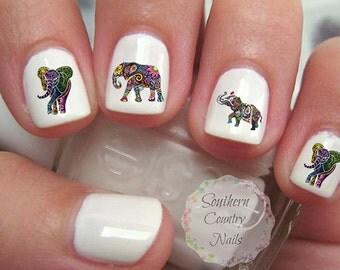 Elephant Nail Art Decals