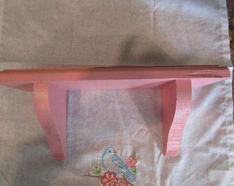 Pink shabby chic shelf/ wall shelf/ nursery decor/ shabby chic decor