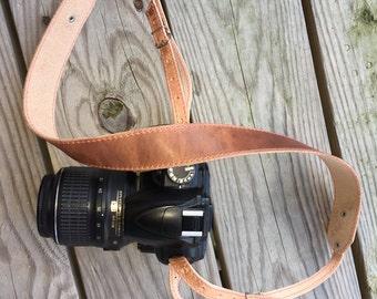 Camera Strap, Leather Camera Strap, Personalized Camera Strap, Horween Leather Camera Strap