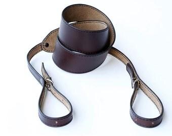 Camera Strap, Leather Camera Strap, Personalized Camera Strap, Horween Chromexcel Camera Strap