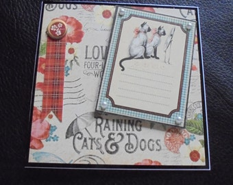 Siamese cats card. Cat lover's card. Kittens card. Two cats card. Two Siamese cats. Card for a cat lover. Cat appreciation card. Cat owner.