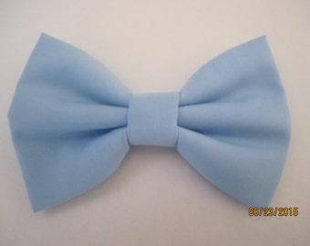 Pale blue bow tie, Men's light blue bow tie, boy pale blue bow tie, light bow bow tie, wedding pale blue bow tie
