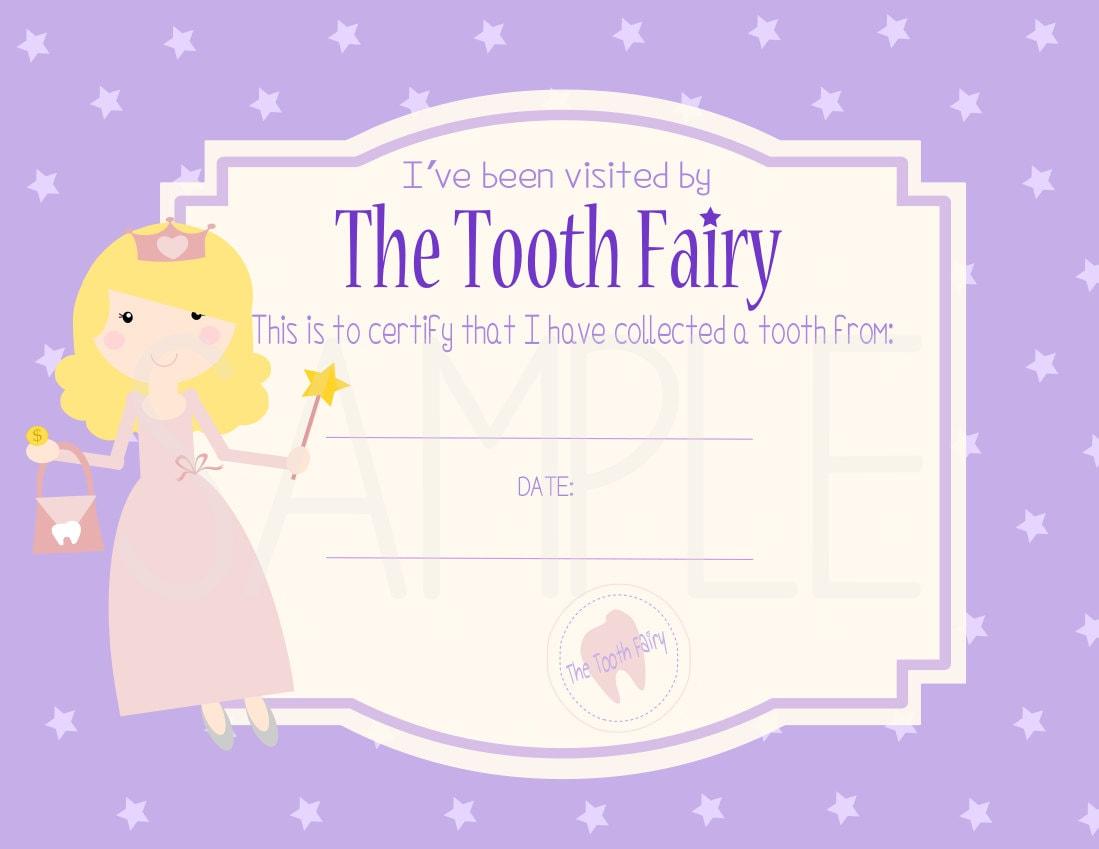 Sale paci pacifier fairy certificate digital printable instant sale tooth fairy certificate digital printable instant download pdf commercial use xflitez Choice Image