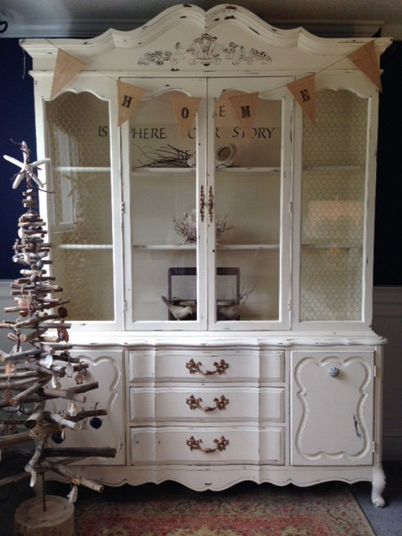 Soldvintage French Provincial China Cabinet