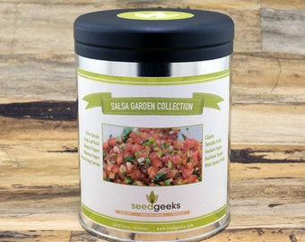Salsa Garden Gift Set Seed Collection - Non-GMO, Open Pollinated, Untreated - Seed Kit, Garden Kit