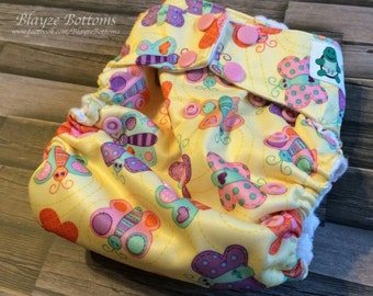 Butterflies One Size Cloth Pocket Diaper