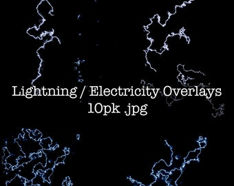 Lightning and Electricity Overlay/ Photoshop Lightning overlay/ Electricity overlay