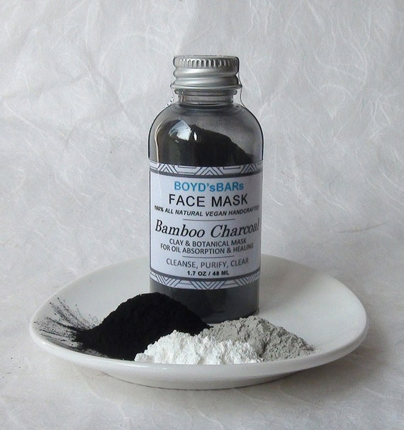 Organic Activated Charcoal Face Mask: Activated Bamboo Charcoal Face Mask All Natural Face Mask