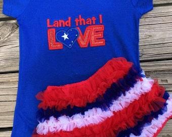 Land that I love . 4th of July outfit