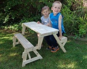 Kids Folding Picnic Table DIY Woodworking Plan