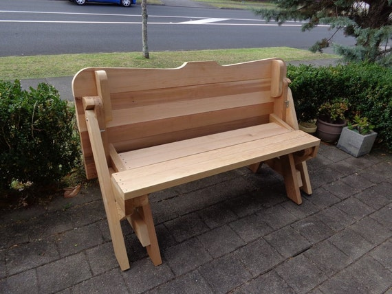 One piece folding bench and picnic table plans ...