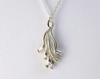 Marine Biology - Ascilla sponge pendant in silver - science jewelry