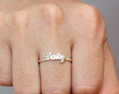 20% OFF** Personalized Name Ring - Bridesmaid Gift - Silver Jewelry