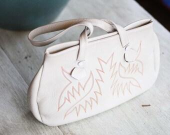Vintage Southwestern Leather Handbag by Justin
