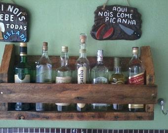 Wine rack,wall rack,rustic rack,rustic shelves,bar shelves,rustic wine rack,rustic wall rack,rustic bar shelves,liquor rack