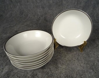 "8 x Fine China of Japan 'Lance"" Dessert/Sauce Bowls."