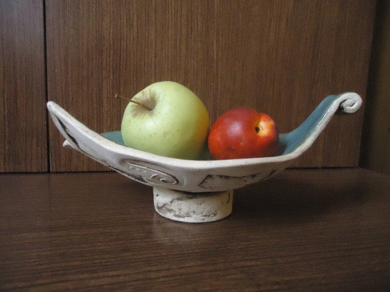 Items Similar To Ceramic Art Plate Fruit Bowl Pottery