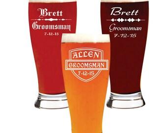 Groomsmen,  Beer Glasses, Gift,  Best  Man, Personalized Groomsman, Groomsman  Groom, Best Man Glasses, Best Man Gift, Engraved Beer Glasses