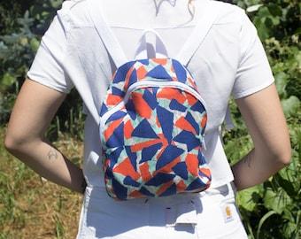 Geo Mini Backpack Blue SALE
