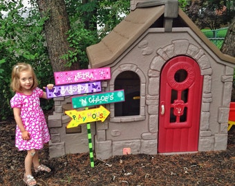 Children's Playhouse Sign, Kids Sign, Wood Sign, Outdoor Sign, Playground Sign, Daycare Sign