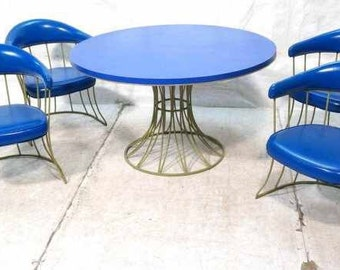 retro iron and laminate dining set