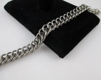 Chainmaille Bracelet Half Persian Aluminum