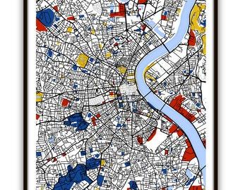 Bordeaux Map Art / Bordeaux, France Wall Art / Print / Poster / Modern Home and Office Decor
