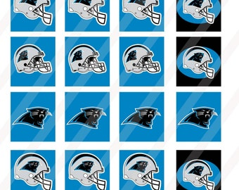 Carolina Panthers digital collage sheet 4x6 0.75x0.83 inch scrabble tiles  INSTANT DOWNLOAD