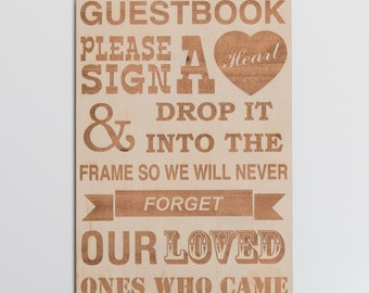 Engraved Guest Book Sign