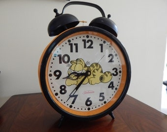 Garfield Clock Etsy