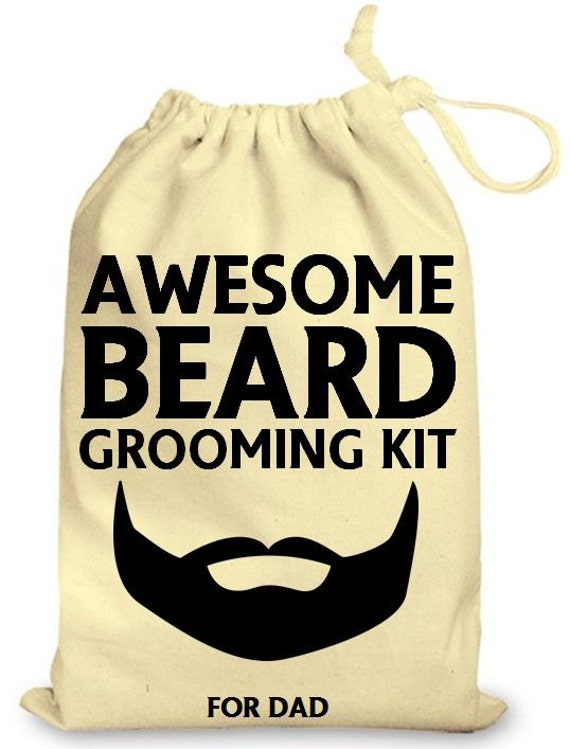 personalized drawstring cotton gift bag awesome beard grooming. Black Bedroom Furniture Sets. Home Design Ideas