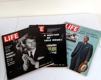 Vintage Life Magazines - Kennedy - From 1966-1967 With Lots Of Old Ads.