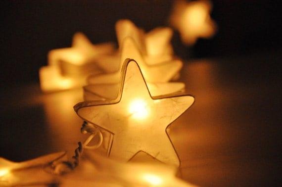 Star String Lights For Bedroom : 35 White Star Lantern String Lights for Decor by leelavadeelights
