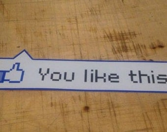 Facebook You Like This Sticker