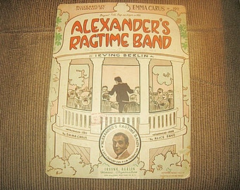 Alexander's Ragtime Band Sheet Music By Irving Berlin, Copyright 1938