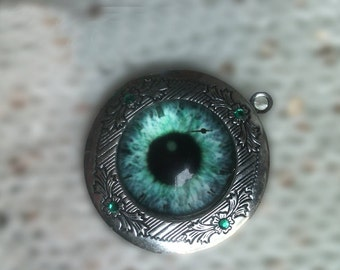 eye locket necklace
