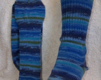 Bright blue tones Superwash Socks