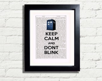 Dr Who Tardis Keep Calm Dont Blink Wall Art Picture INSTANT DIGITAL DOWNLOAD Printable A4 Pdf Jpeg ImageHome Decor Inspirational  Gift Idea