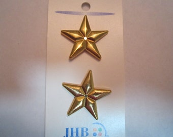 Gold star buttons  (#15)